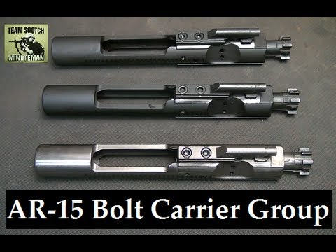 m16 - Fun Gun Reviews Present: How to I.D. AR 15, M16 & Mil Spec Bolt Carrier Groups. Showing the differences between the M-16 and AR-15 Bolt Carriers, What makes ...