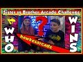 Sister Vs Brother Arcade Jackpot Challenge  Winning Arcade Jackpots In Games Wins  Hawkes Arcade