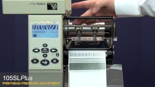 Ajustar a pressão da cabeça de impressão 105SL