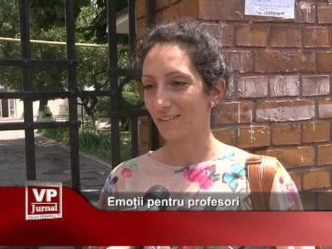 Emoții pentru profesori