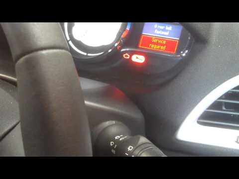 how to reset service light on renault clio