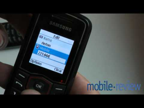 Youtube Video Samsung E1081 schwarz