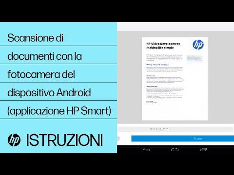Scansione di documenti con la fotocamera del dispositivo Android (applicazione HP Smart)