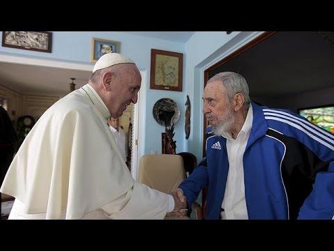 Κούβα: Ιστορική συνάντηση Πάπα-Κάστρο