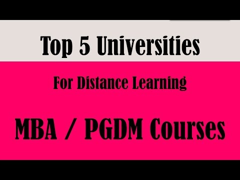 Top 5 Universities for Distance learning MBA/PGDM