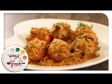 Stuffed Tomato Potato Sabzi | Recipe by Archana in Marathi | Vegetarian Indian Main Course