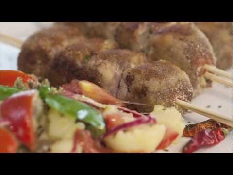 braciole di carne alla messinese ed insalata pantesca