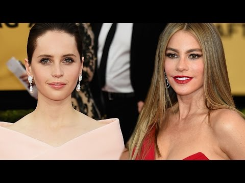 style - Best & Worst Dressed SAGs ▻▻ http://youtu.be/QK1ySUBtczI More Celebrity News ▻▻ http://bit.ly/SubClevverNews Sofia Vergara went red hot and Felicity Jones kept it pretty in pink –...
