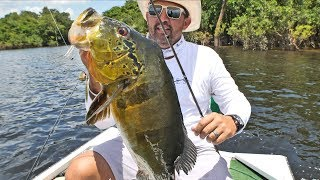 Giant Peacock Bass Crushes Spinnerbait | Fishing Amazon River pt.7
