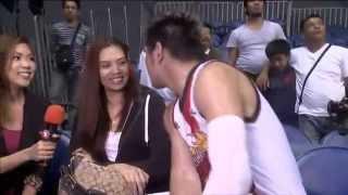 SPORTS 5 SPECIAL: June Mar Fajardo kissing his girlfriend