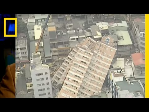 earth quake - See earthquakes pound San Francisco and pulverize Taiwan. http://video.nationalgeographic.com/video/?source=4001.