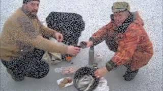 Рыбалка на Кубани. Лов тарани  на Ейском лимане. Январь 2015