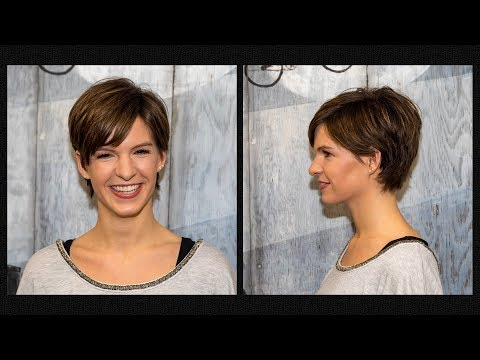 Short hair styles - long to short pixie haircut women  extreme hair makeover hairstyles 2018 by Alves & Bechthold
