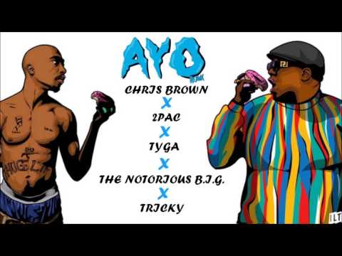 Chris Brown , Tyga - Ayo Ft. 2Pac & The Notorious B.I.G. (Remix)