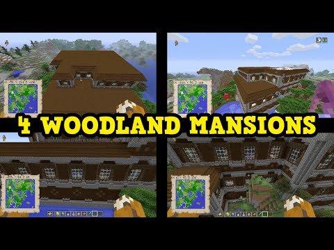 Minecraft Xbox 360 / Wii U TU54 - 4 WOODLAND MANSIONS 1 SEED