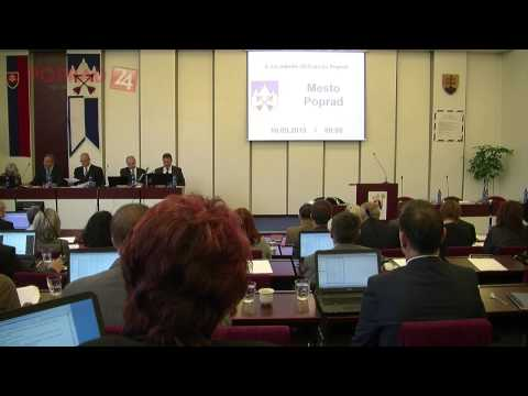 Mestské zastupiteľstvo v Poprade 10.9.2015