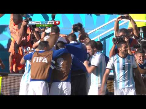 World Cup 2014 Round Of 16 Argentina Vs Switzerland 2014 All Goals/Argentyna - Szwajcaria