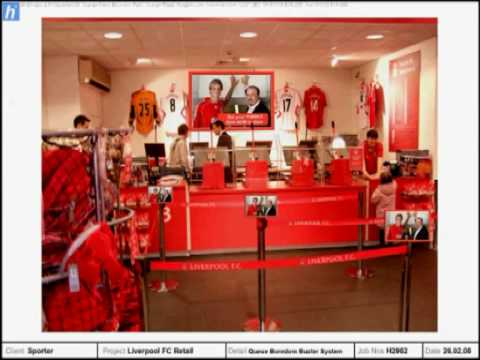 Liverpool FC Retail Design And Interactive Touch Screen Displays