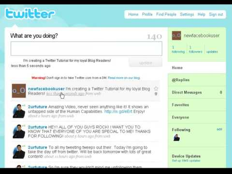 Twitter - A simple step by step tutorial on how to create your Twitter Account, Add friends and Tweet Posts!