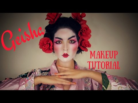 Geisha Makeup Tutorial| For Halloween Or Just For Fun