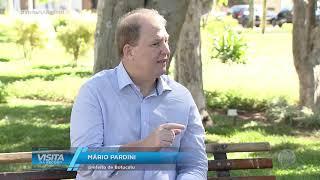 Visita na Record  - Prefeito de Botucatu Mário Pardini