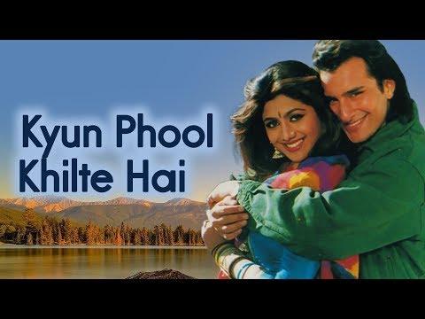 Kyoon Phool Khilte Hain | Aao Pyaar Karen (1994) Song | Saif Ali Khan | Shilpa Shetty | 90's Song