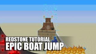 Minecraft: EPIC Boat Jump!