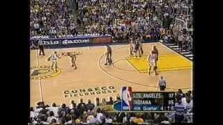 Shaq 36 pts,21 reb, Kobe 28 pts, Miller 35 pts,nba-finals 2000 lakers vs pacers game 4
