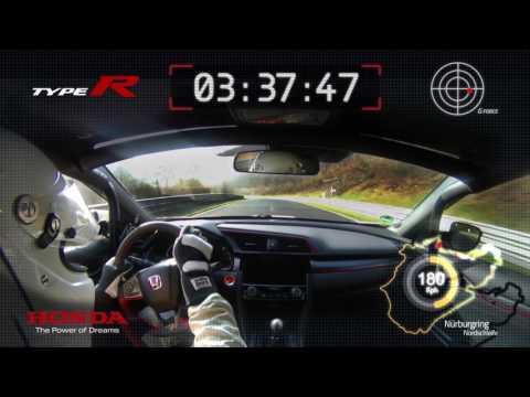 Honda 2017 Type R – VBox Nürburgring lap record footage