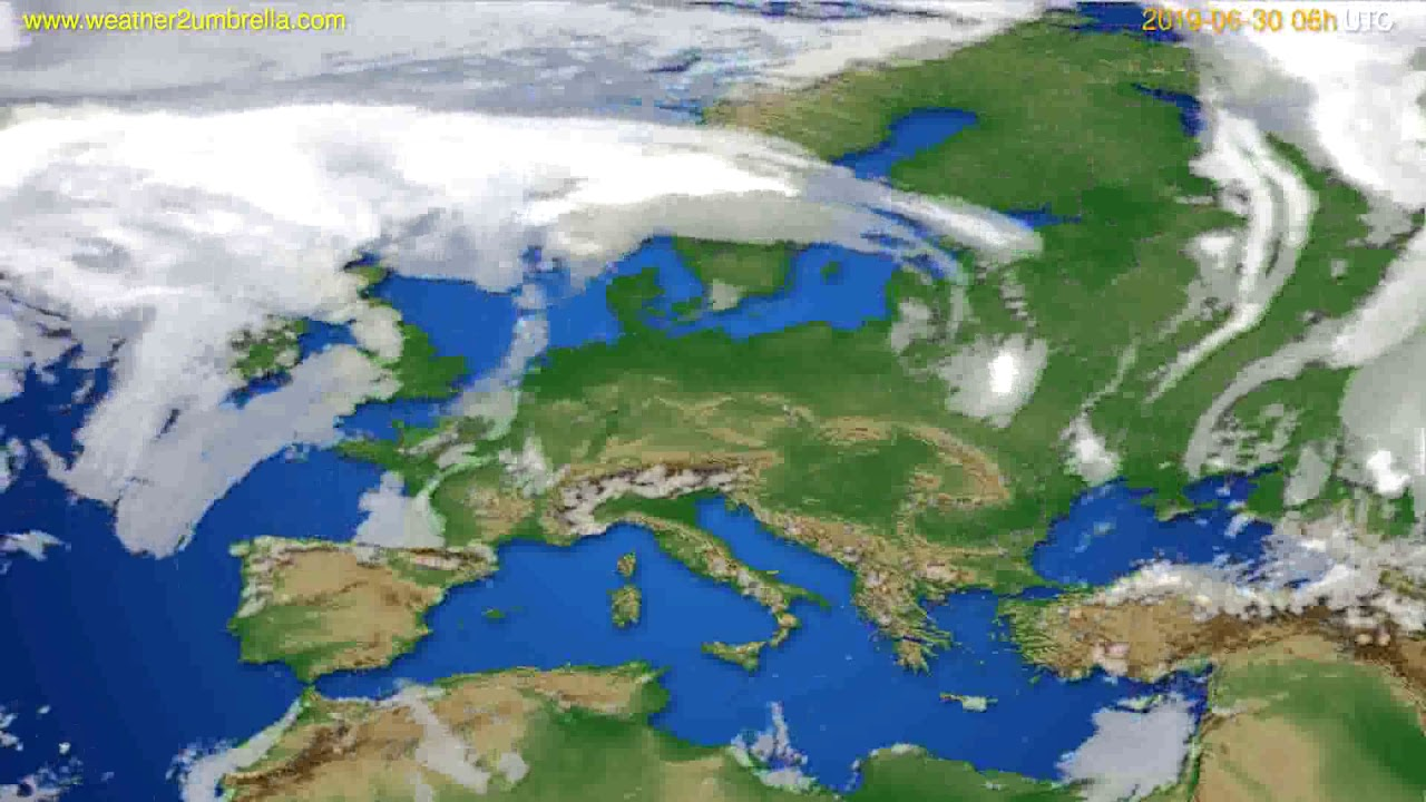 Cloud forecast Europe // modelrun: 00h UTC 2019-06-28