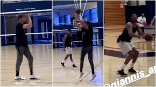Kyle Korver has already started working with Giannis to improve his shooting