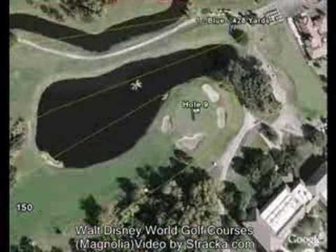 """Walt Disney World Golf Courses (Magnolia)"" Flyover Tour"