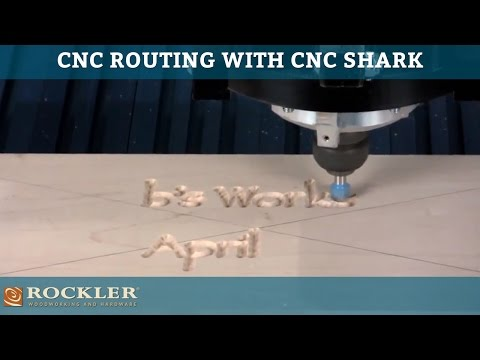 CNC Routing with a CNC Shark