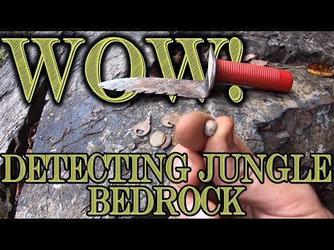 Metal detecting Jungle Crevices for Gold! Old Relic Found!