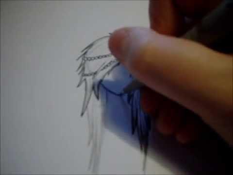Manga zeichnen lernen Kopf Mädchen mit Accessoire