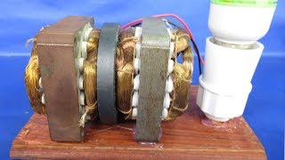 DIY Electric Free energy generator 240 Volts to DC 12V - Science Experiment at School 2018