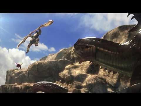 魔物獵人四最新開頭動畫,操蟲棍獵人首當主角!!