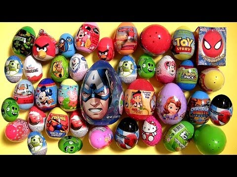 surprise - Welcome to BluToys Ueva Huevos Sorpresa, today i'm unboxing and opening 40 Surprise Eggs Blind Bags from different movie cartoons like: Minecraft, Nickelodeo...