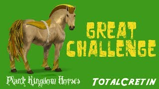 """Thank you to MatsGaming for requesting a video on the Great Challenge. Until the 24th July 2017 15:00, use objectives to gather all of the community's horseshoes.Perks for festivities - Using the objectives, unlock perks for the next festivities:- Promo offers for the horn of plenty depending on your own horseshoes.- Prizes thanks to your pieces of puzzle.- Bonuses for the Derby by helping other players (limited to one a day).The Jackpot - Throughout the festivities, from the 19th July 2017 13:00 to the 24th of July 2017 15:00, you have the opportunity to win the divine horse Caryopsis. In the Derby jackpot or in horns of plenty.Caryopsis is one of the Plant Kingdom horses. She can be watered instead of drinking. This horse's skills increase when you give them Droppings. The skills increase depends on the amount of Droppings the horse is given, as well as the season in the game. When she reaches 80 skill points, she can be pruned. Her skills will then be reset to 0, but she'll give you 1 x  Pass seeds!This mare cannot be sold.Earn golden horseshoes for the Event trophy by completing 1, 12, 24 and 36 objectives. Collect at least 2 golden horseshoes to take part in the prize draw, which will take place at the end of the event to try and win the divine horse Caryopsis.★Music/Outro Song★Created by """"Teknoaxe"""". It's called """"Stepping Along the Sky"""" is licensed under a Creative Commons Attribution license (https://creativecommons.org/licenses/...) and you can listen to the song here: https://www.youtube.com/watch?v=SjTaMqGnvSs"""