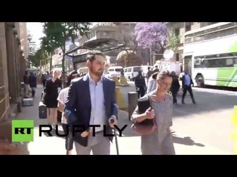 South Africa: Oscar Pistorius arrives for final court hearing in Pretoria