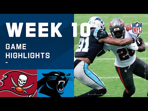 Buccaneers vs. Panthers Week 10 Highlights | NFL 2020