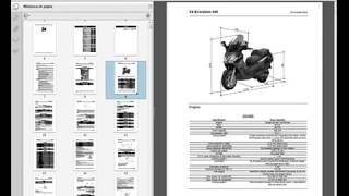 7. Piaggio X9 (500cc.) - Workshop Manual - Parts Manual - Owners Manual