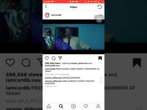Cardi b press official video snippet