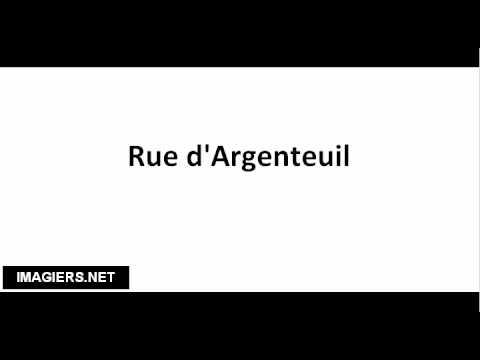 How to pronounce Rue d'Argenteuil