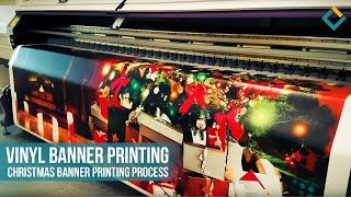 Vinyl Banner Printing: Christmas Banner Printing process