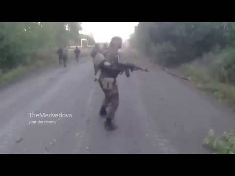 Жесткий бой, ВСУ насыпали сепарам, Камера засняла момент смерти и ранений  Донецк  Укра