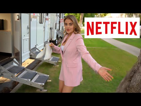 I GOT A NETFLIX MOVIE!! (come to set with me)