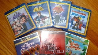 Here's a seven movie unboxing of titles that I got from the Disney Movie Club in one order. I got the Mighty Ducks trilogy on Blu-Ray, Cool Runnings on Blu-Ray, The Three Caballeros, Salads Amigos, and the Thrills and Chills collection on DVD. Overall, a really fun bunch of movies!