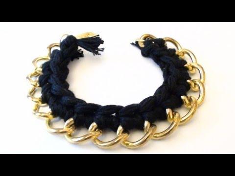 uncinetto - bracciale con catena
