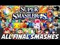 Super Smash Bros 4 wii U 3ds All Final Smashes 51 Total